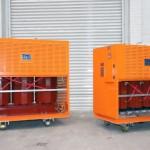 Transformador encapsulado en resina 1000kVA, 6600:433V, Dyn11, AN, IP21.