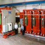 Transformador encapsulado en resina 16000:20000kVA, 33000:11000V, Dyn1, AN:AF, IP00, OLTC.