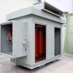 Transformador seco encapsulado en resina 2113 kVA, 11000:581-581V, Dd0y11, AN, IP43, Outdoor.