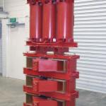 Transformador de aislamiento encapsulado en resina y reactancias de sintonía 56kVA, 22kV, 450/566V, 317Hz